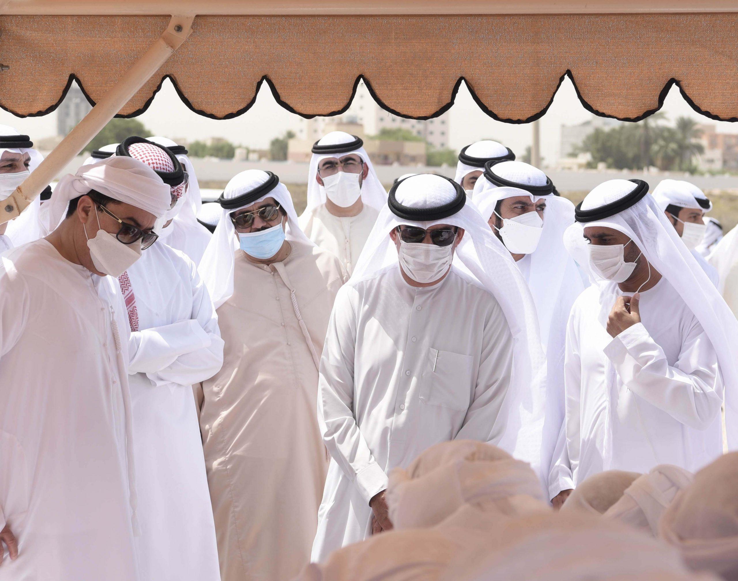 UAQ, RAK Rulers perform funeral prayers for Sheikha Shamsa bint Majid